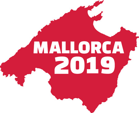 Mallorca 2019 country fronier in red