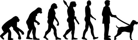 Weimaraner evolution with dog silhouette Illustration