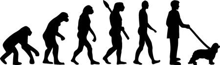 Cavalier King Charles evolution darwin Illustration