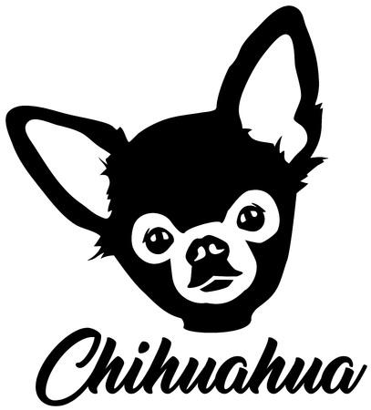 Chihuahua head black with name