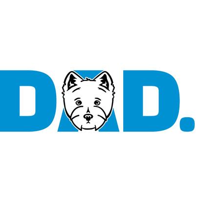 Westie best dad ever slogan