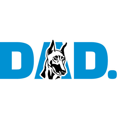 Doberman best dad ever slogan