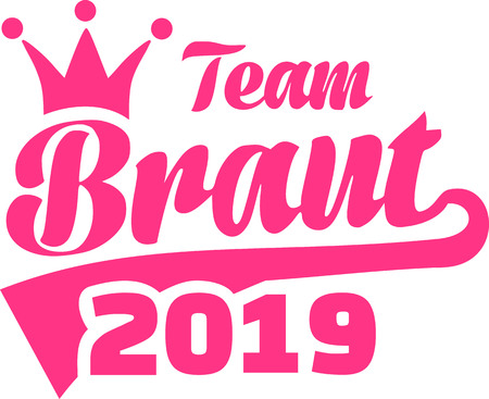 Team bride 2019 crown german