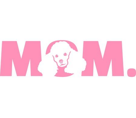Poodle best mom ever slogan Stock Illustratie