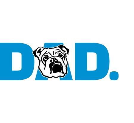 English Bulldog best dad ever slogan