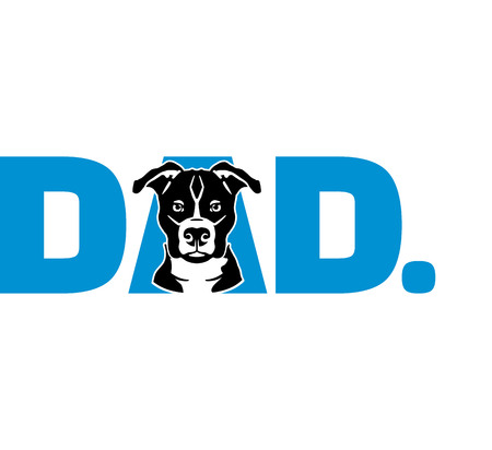 Pit Bull Terrier best dad ever slogan
