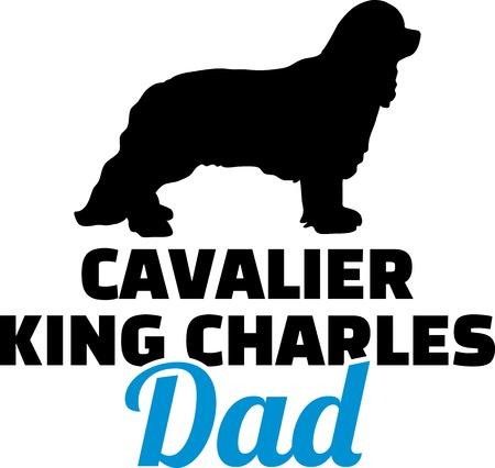 Cavalier King Charles dad blue