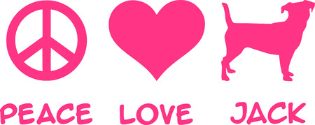 Peace, Love, Jack slogan pink