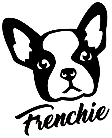 French Bulldog head with Frenchie name