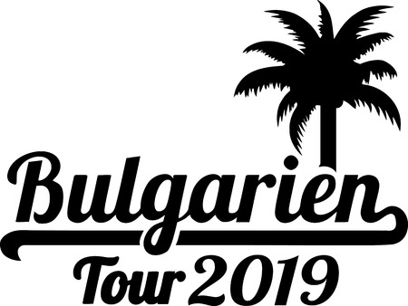 German words for Bulgaria tour 2019 and palm tree