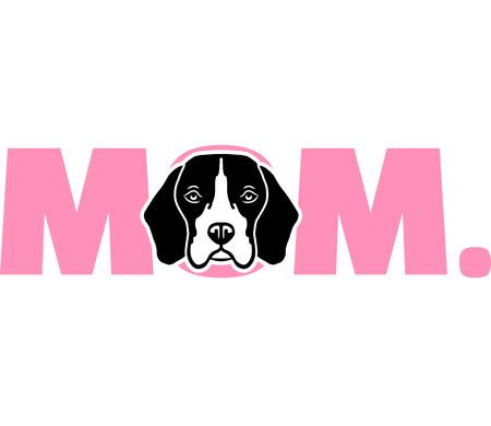 Beagle best mom ever slogan