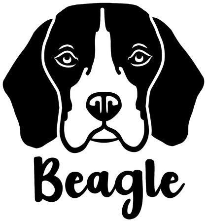 Beagle head black with name