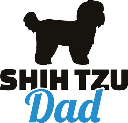 Shih Tzu best dad ever slogan Illustration