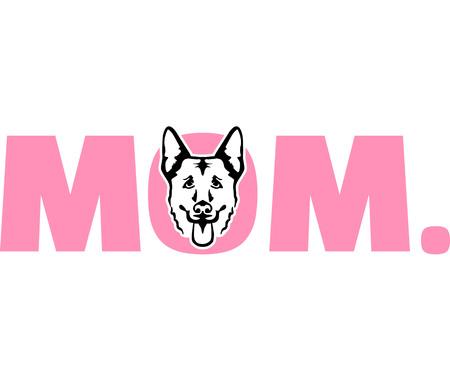 German Shepherd best mom ever slogan 向量圖像