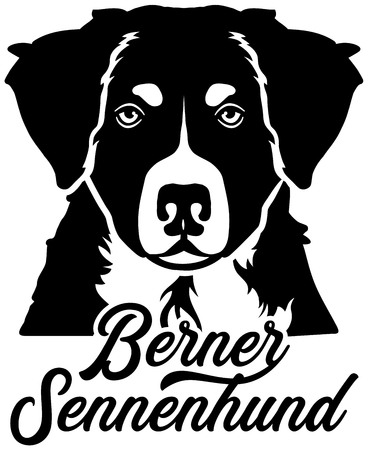 Bernese Mountain face with german word