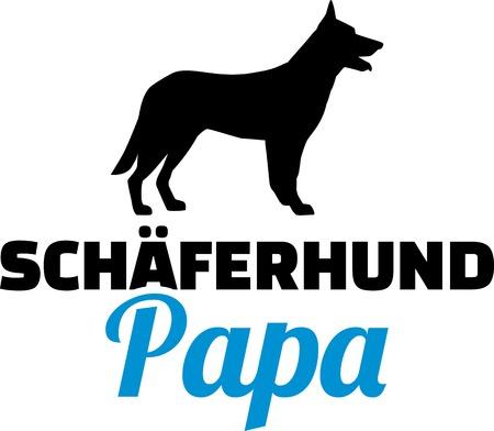 German Shepherd dad silhouette german