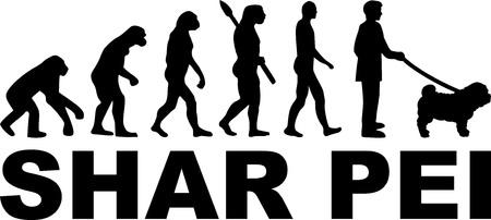 Shar Pei evolution with name Vecteurs