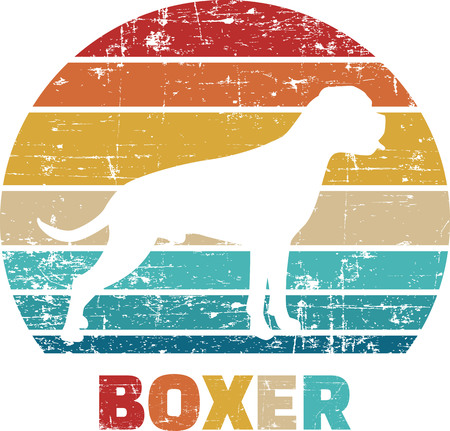 Boxer silhouette vintage and retro