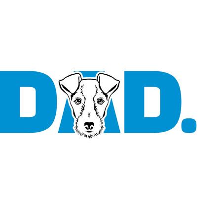 Fox Terrier best dad ever slogan