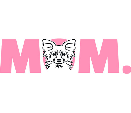 Papillon best mom ever pink
