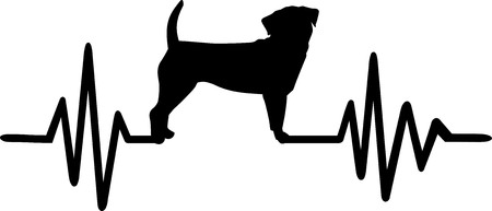 Puggle heartbeat frequence with silhouette