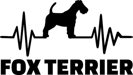 Heartbeat frequency with Fox Terrier dog silhouette