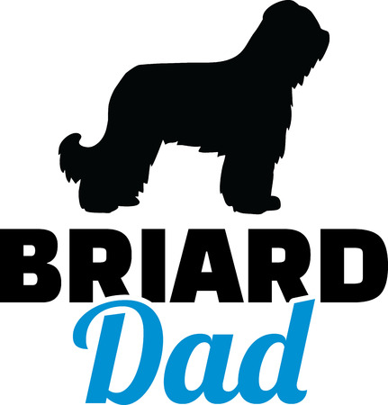 Briard best dad ever slogan Illustration