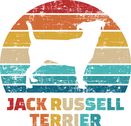 Jack Russel silhouette vintage and retro