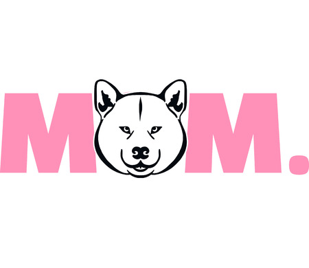 Akita best mom ever pink