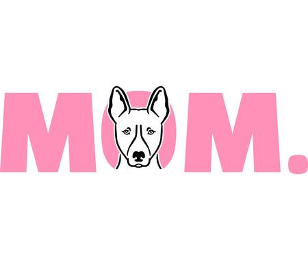Basenji best mom ever pink