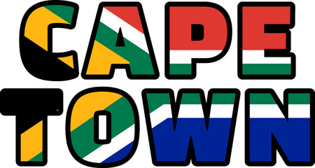 Cape Town flag of South Africa