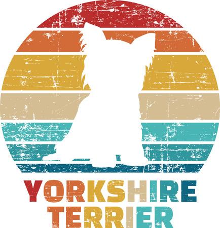 Yorkshire silhouette vintage and retro Reklamní fotografie - 125244042