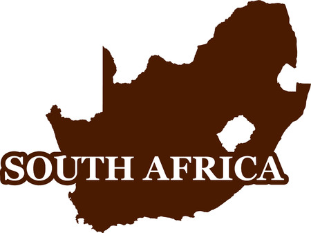 South Africa map silhouette brown