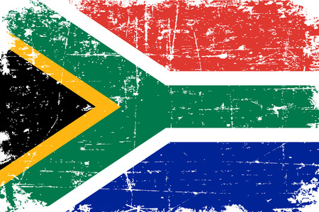 South Africa flag colourful grunge word