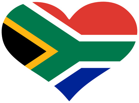 South Africa flag in heart