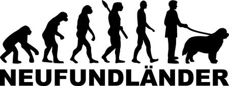 Newfoundland evolution with german name Banque d'images - 125243761