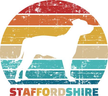Staffordshire silhouette vintage and retro Reklamní fotografie - 125243567