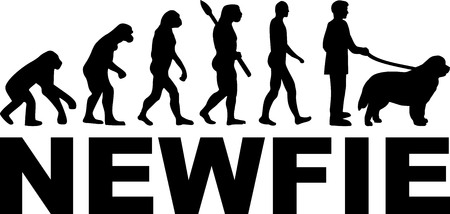 Newfoundland evolution with Newfie name Banque d'images - 125243476