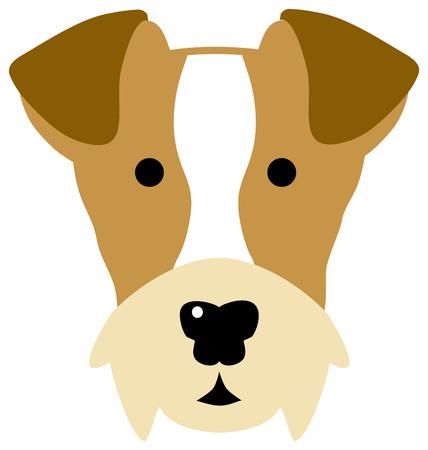 Fox Terrier head in colour