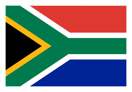 South Africa flag white border