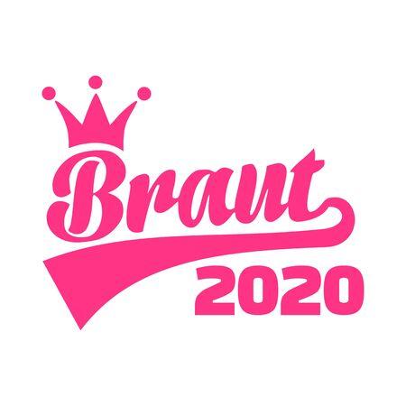 Novia en el año 2020 alemán Ilustración de vector