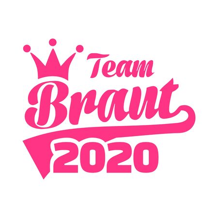Team Bride año 2020 alemán Ilustración de vector