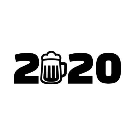 2020 with beer mug year