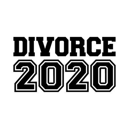 Divorce in year 2018 german 向量圖像
