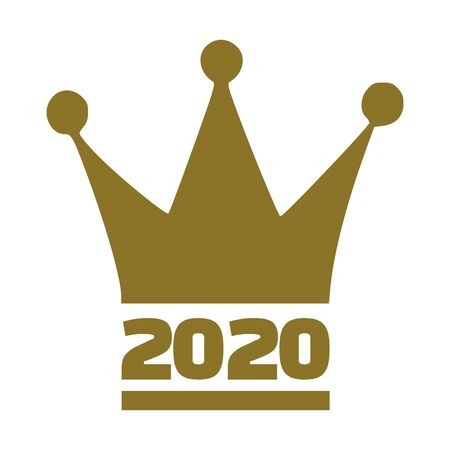 2020 year with golden crown
