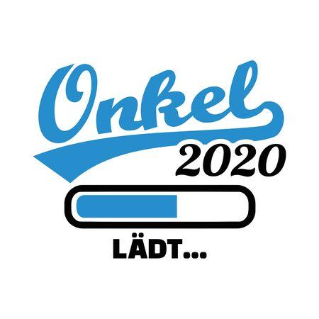 Uncle in year 2020 loading german 矢量图像