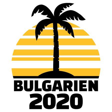 Bulgaria 2020 palm tree german