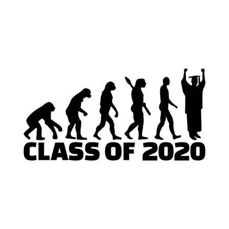 Evolution of class of 2020 with graduate Archivio Fotografico - 140699380