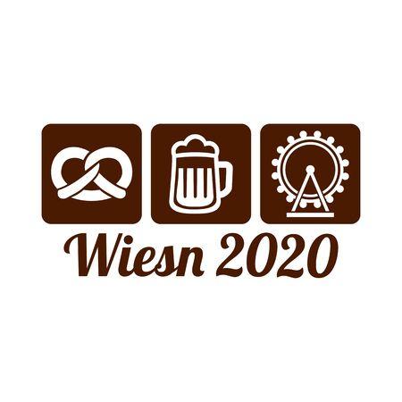 Oktoberfest Wiesn in year 2020