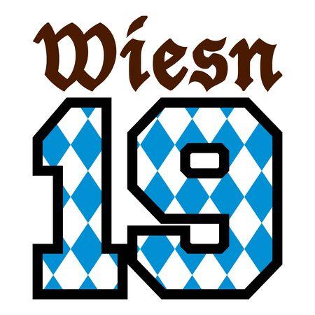 Oktoberfest Wiesn in year 2019 Çizim